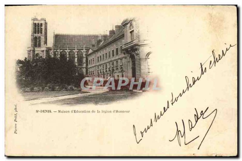 Old Postcard Saint Denis House of Education of the Legion of Honor