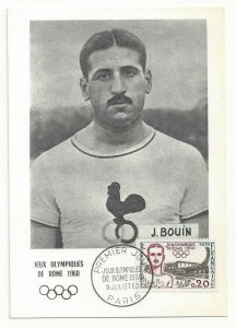 ROME, Italy, PU-1960; Olympics, J. Bouin Middle-Distance Runner