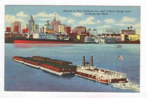 Federal barge Line Entering berth, New Orleans, Lousiana, 30-40s