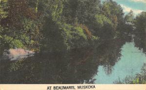 Canada Muskoka At Beaumaris River Postcard