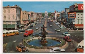 Dexter Avenue Street Scene Montgomery Alabama 1950s postcard