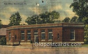 Skowhegan, ME USA Post Office 1949 small hole top edge