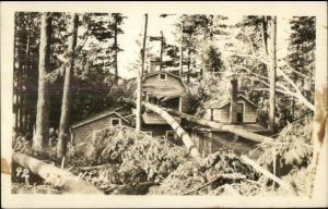 Spofford Lake NH Storm Damage c1920s-30s Real Photo Postcard