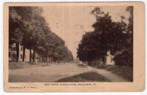 Bakersfield, Vt, Main Street, looking South