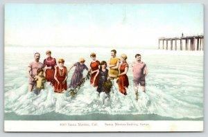 Santa Monica California~Bathing Scene~Beauties & Bums~Caught in Seaweed~1907 PCK
