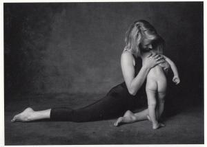 Baby With Three Legs Yoga Optical Illusion Photo Postcard