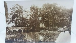 Vintage Rp WW1 Postcard The Ford Codford St Mary Soldiers with Bicycles 1914 Vgc