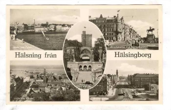 RP; Sweden,5-Views, Halsning fran, Halsingborg, 20-40s