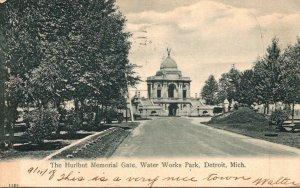 Michigan Detroit Water Works Park The Hurlburt Memorial Gate 1908