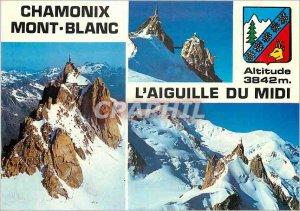 Modern Postcard Chamonix The Aiguille du Midi