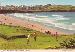 Post Card Cornwall Newquay Fistral Bay, Pentire Point