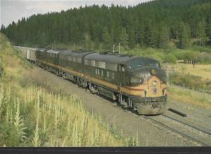TRAINS NORTHERN PACIFIC 7001A FREIGHT, CHESTNUT MONTANA