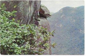 US North Carolina Chimney Rock Park - Devil's Head. Mailed from Bat Cave, 1967.