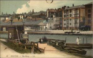Exeter UK Ferry Boat Dock c1910 Postcard