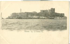 Marseille, Le Chateau de d'If early 1900s unused Postcard