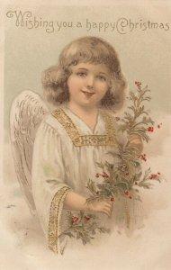 CHRISTMAS Angel , Wishing you a happy Christmas , 1909
