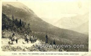 Real Photo - Iceberg Lake Glacier National Park MT 1916