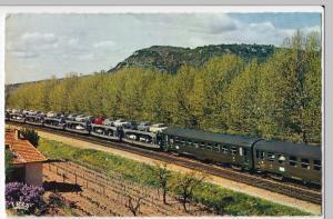 Railway; France, Auto Sleeper Express Train PPC c 1967, By SNCF