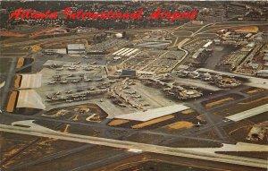 Atlanta Georgia 1975 Postcard Aerial View Atlanta International Airport