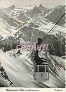 Postcard Modern Vallugabahn Blick geg Saumspitze Teleferique