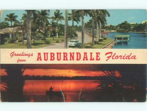 Pre-1980 TWO VIEWS ON ONE POSTCARD Auburndale Florida FL AD5731
