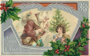 A Glad Christmas - Santa Claus - Postcard 03.93