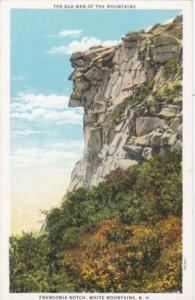 New Hampshire Franconia Notch The Old Man Of The Mountains 1934 Curteich