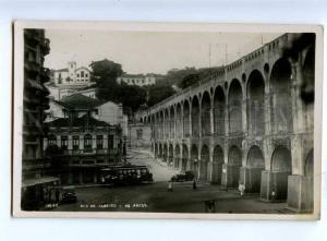 192203 BRAZIL RIO DE JANEIRO Arcos TRAM Vintage photo postcard