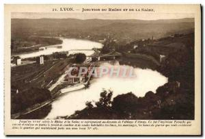 Old Postcard Lyon Junction Du Rhone And The Saone