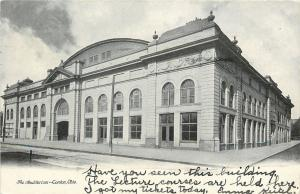 Canton Ohio~Lecture Courses Held at This Auditorium~1906 B&W Postcard
