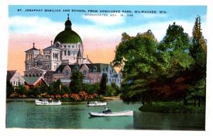 Wisconsin  Milwaukee ,St.Joseph Basilica School from Kosciusko park