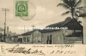 mexico, TAMPICO, Calle del Estado (1904) Stamp