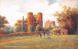 Entrance Kenilworth Castle United Kingdom, Great Britain, England Writing on ...