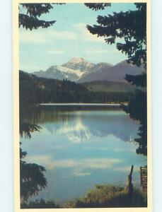 Unused Pre-1980 LAKE SCENE Jasper National Park Alberta AB F3515