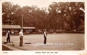 Old Vintage Lawn Bowling Postcard Post Card Bowling Green Mill Hill Park Unused