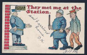 'They Met Me at the Station (police)' used c1906