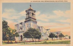 San Jose Second Mission, Built 1718, San Antonio, Texas 1948
