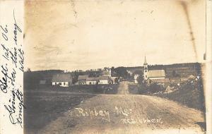 Ripley ME Dirt Street View Downtown Approach in 1906 RPPC Postcard