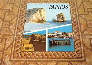 Cyprus Paphos Cliff Birthplace of Venus Harbour Boats