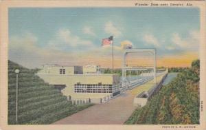 Alabama Wheeler Dam Near Decatur 1952 Curteich