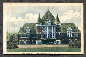 dc558 - QUEBEC CITY 1930s CPR Train Station Postcard
