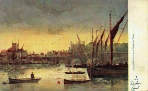 Rochester from Strood Pier Harbour Boats Postcard