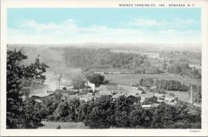 Moench Tanning Co. Gowanda NY New York Aerial AD Unused Vintage Postcard D73
