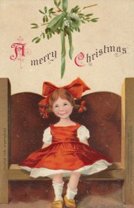 CLAPSADDLE, 1900-10s; Girl in booth ; CHRISTMAS