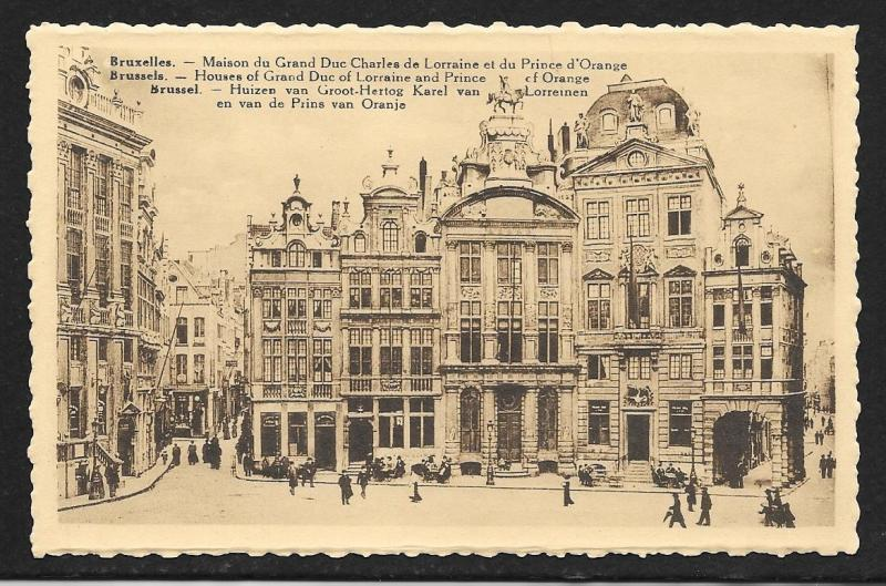 Houses Grand Duke & Prince Brussells Belgium unused c1920's