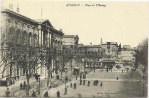 Avignon Place de l'Horloge France Vintage Postcard