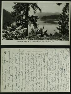 Vancouver Is BC view fr Klitsa Lodge Sproat lake RPPC