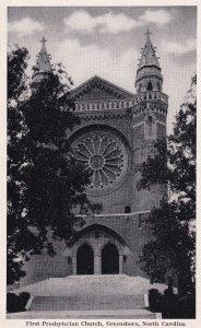 GREENSBORO, North Carolina, 1930-1950s; First Presbyterian Church