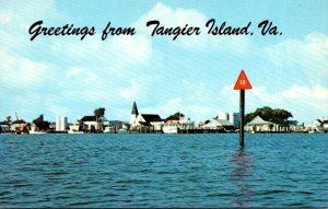 Virginia Greetings From Tangier Island Showing Tangier Harbor