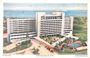 Panama Old Vintage Antique Post Card El Panama, Kirkeby Hotel Panama City 1956